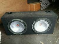 Kenwood twin sub with built in amp
