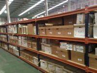JOB LOT 50 bays systemas industrial long span shelving 2.1m high ( storage , pallet racking )