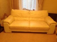 Cream sofa & arm chair