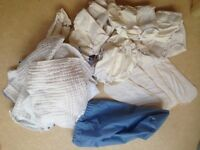 Washable reusable real birth to potty nappy bundle including bucket and wet bag
