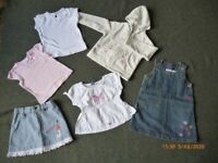 Selection of girls clothes age 12-18 months