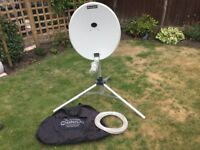 Sky satellite dish with carry bag and sky box