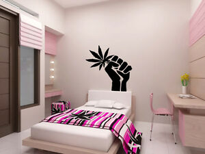 Http Www Ebay Com Itm Cannabis Wall Decal Sticker Vinyl Decor Mural Bedroom Kitchen Art Marijuana