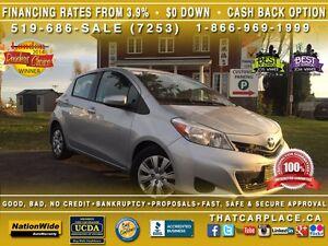 2014 Toyota Yaris LE-$47/Wk-Bluetooth-CD/Mp3-Tint-Cruise-AC-Keyl