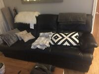 3 seater recliner leather sofa.