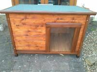 Large Dog Kennel, insulated with removable floor