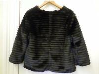 Principles black faux fur jacket