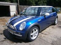** NEWTON CARS ** 03 MINI COOPER 1.6, 3 DOOR, GOOD OVERALL, PART S/H, SAT NAV, MOT AUG 2017, CALL US