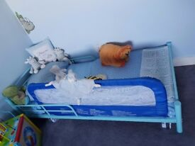 Blue toddler/Infant Bed! With Mattress.