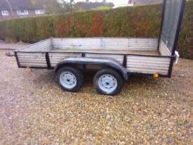 TWIN AXLE TRAILER, BODY SIZE 10FT X 5FT