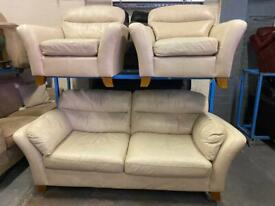 NEXT HOME LEATHER SOFA SET IN NICE CONDITION 3-1-1 seater