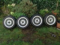 Vw bbs rz oem 15'' alloy wheels g60 mk2 golf 4x100