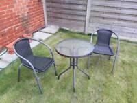 Garden bistro set - 2 chairs + table