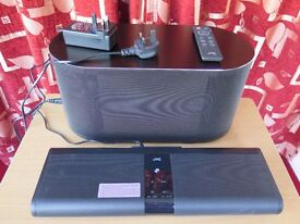 JVC soundbar and subwoofer 311 for flatscreen tv, recent purchase, hardly used