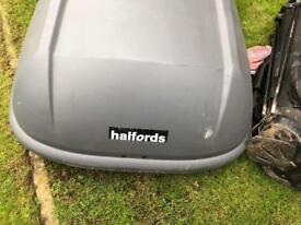Halfords Car top box