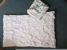 Baby cot quilt + Vertbaudet quilt cover