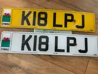 K18 LPJ affordable, not expensive private cherished personalised personal registration plate number