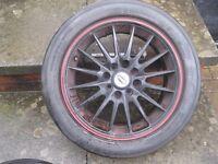 Team Dynamics Jet Alloy Wheels with Yokohama Parada Tyres 195-50-15 all nearly new fit Golf GTI, MX5