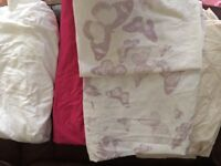 Girls single bedding and throws