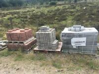 3 different pallets of Lock Blocks, individual or as a lot