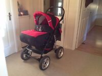 Pram + Push Chair + Car seat + Carry cot