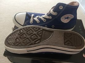 Converse Blue Hi Tops - Size 1