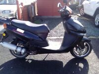 125cc Scooter for sale.Low mileage.MOT till 28th Sept.2018.