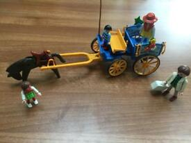 Playmobil horse and cart