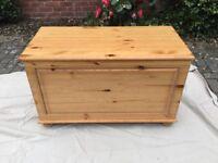 Wooden ottoman/toy box