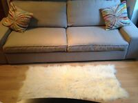Large 3 seat Kivik sofa bed - beige colour, very good condition.