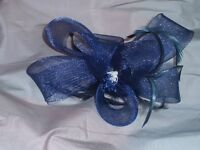3 Fascinators for sale, one Navy, 2 Pink