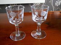 Rare Collectable, Pair of The Macallan Malt Whisky Glasses.