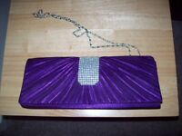 Ladies evening clutch bag - Colour - Purple - Never been used