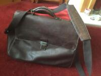 Traditional leather briefcase by Jasper Conran