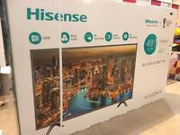 """Hisense 49"""" LED UHD 4K Smart TV, New in box"""