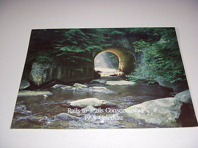 Rails-to-Trails Conservancy 1991 Calendar, Railway and Nature Photos!