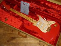 Fender USA Custom Shop 1956 Relic Stratocaster with flame maple neck and gold hardware, made in 2000