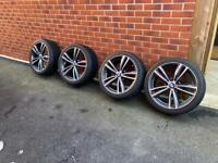 """Genuine BMW 3 4 Series F30 F31 F32 442M 19"""" Alloys with Tyres and TPS"""