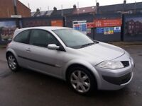 1.6 RENAULT MEGANE PETROL MANUAL 2006 YEAR 71000 MILE MOT 08/02/19 HISTORY. 3 MONTHS WARRANTY