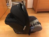 Recaro Privia Group 0+ baby car seat + isofix base