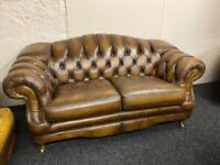 Thomas Lloyd Brown chesterfield 2 seater sofa settee