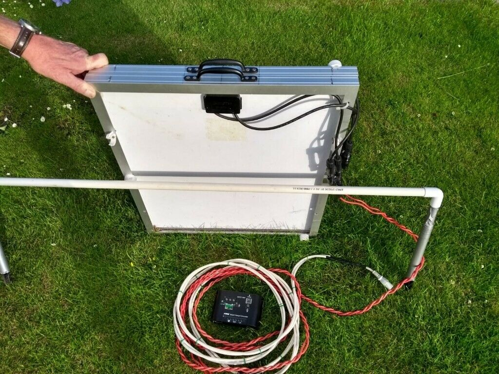 80w Solar Panels Charging Kit With Controller In