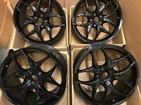 20 inch 5 x 120 Gloss Black Y Spoke Alloy Wheels Alloys Rims fits: BMW X5 E70, VW Transporter