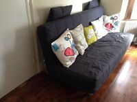 Grey IKEA Beddinge 3 seater Double Sofabed + Cover sofa futon day bed couch settee Delivery possible