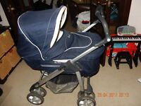 Silver Cross Sleepover, including covers, crib rocker , car seat, parasol and baby bag