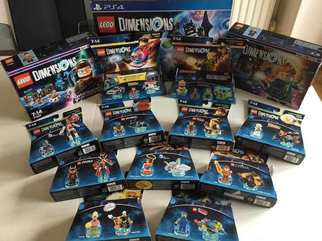LEGO Dimensions PS4 Level Team Fun Packs - Huge Lot Various Sets