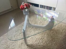 Glass Topped Coffee Table in excellent condition.
