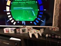 Nintendo N64 console - games - pad - memory