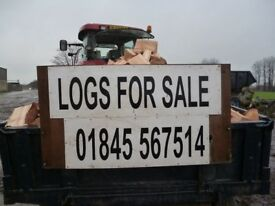 Good dry logs delivered telephone 01845567514 mobile 07846200041