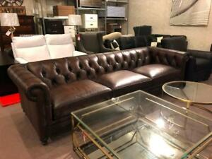 London Leather Chesterfield Sofa  by Bernhardt NEW ** 5 CORNERS FURNITURE **